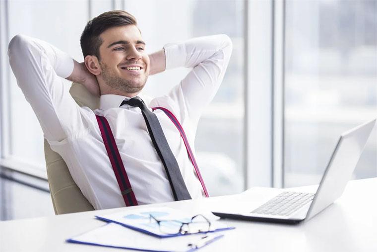 Человек успешный в работе