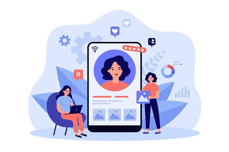 Активное общение в социальных сетях